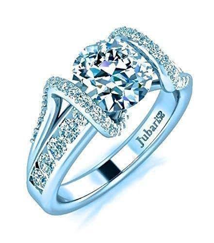 Amazon.com: 1.38 Tcw Contemporary Diamond Engagement Ring