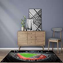 Rug Easy to Clean, Durable CLUJ NAPOCA,ROMANIA OCTOBER Grand opening of Cluj Arena the largest soccer stadium Comfort at Home, OfficeW35.5 x L47 INCH