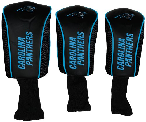 WinCraft NFL Carolina Panthers 3-Pack Mesh Headcovers by WinCraft