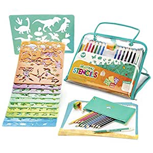 Amazon Drawing Stencils And Colored Pencils Arts Crafts Set