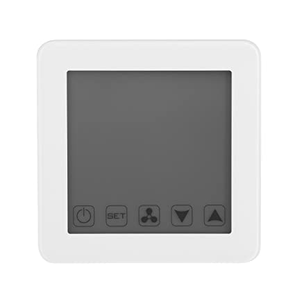 Vosarea Touchscreen Heating Thermostat LCD Display Smart WiFi Underfloor Heating Thermostats Central Temperature Controller (White