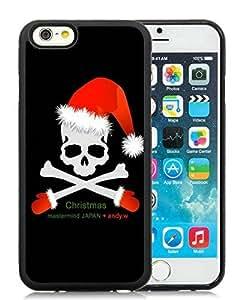 diy phone casePersonalized iPhone 6 Case,Christmas Skull Black iPhone 6 4.7 Inch TPU Case diy phone case1