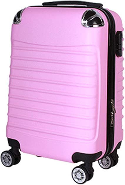 BMHFF Hardshell Luggage Airport Lightweight Carry-on Suitcase 8 Spinner Wheel Durable Trolley Case for Men and Women