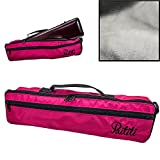 Paititi Brand New C Flute Hard Case Cover w Side Pocket/Handle/Strap Pink Color