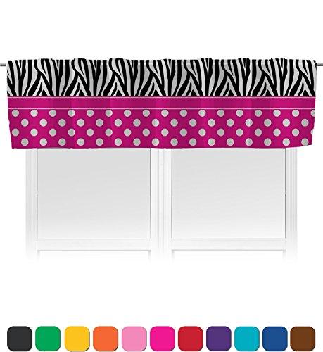 RNK Shops Zebra Print & Polka Dots Valance - Unlined (Personalized) (Dot Circle Valance)