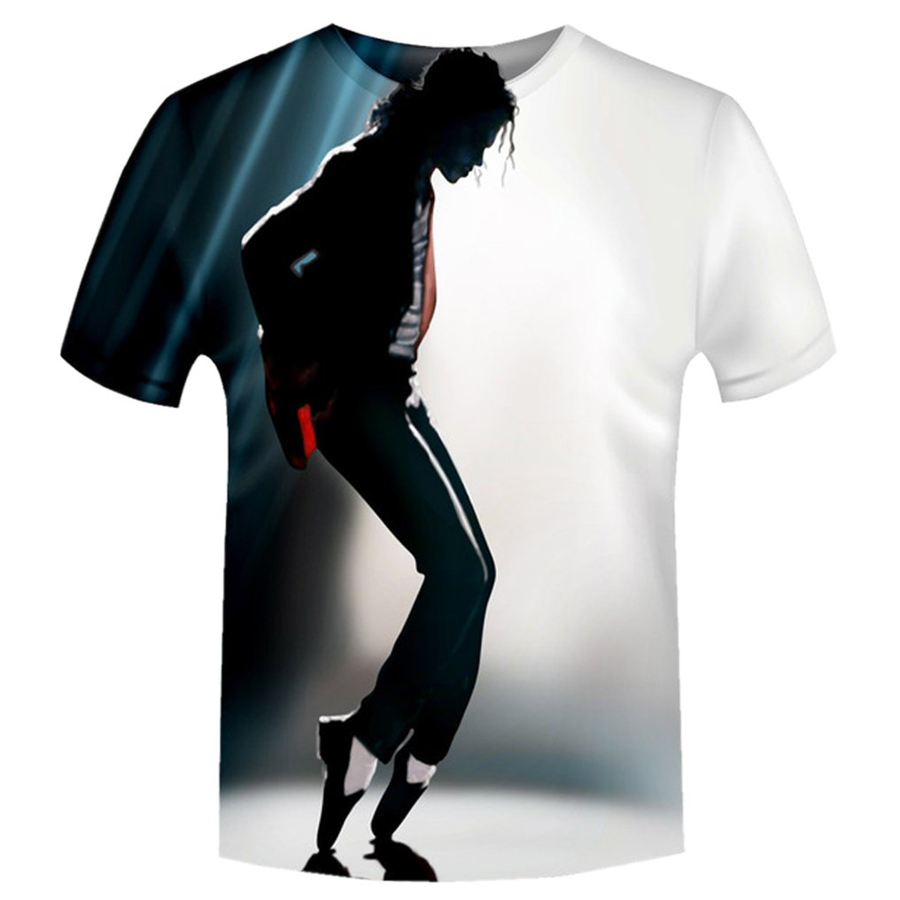 Moji Unisex 3D Printed Shirts Michael Jackson Print Harajuku Summer Tops T Shirt