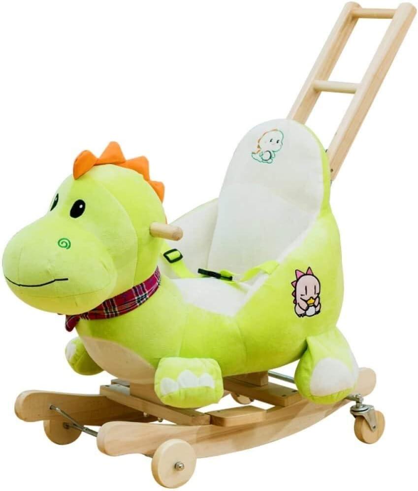 Caballito Balancín Bebé mecedora caballo de madera doble uso caballo caballo for bebé 6-48 meses niño rocker niño silla niño niño niño niños y niña peluche dinosaurio rocker rompecabezas juguete Meced