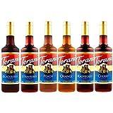 Torani Syrup Fruit Bowl 6 Pack, Raspberry, Strawberry, Blackberry, Cherry, Orange and Peach by Torani