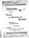 White W7-Treadle Sewing Machine/Embroidery/Serger Owners Manual Reprint [Plastic Comb]