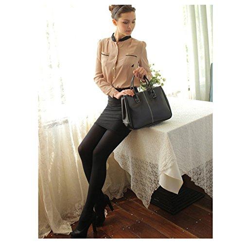 Bagage main Share Femme Vintage Faux noir à Bureau Sac noir CUIR 6a68wx7A