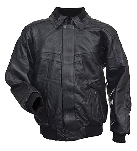 Leather Deluxe Jacket (Mossi Deluxe Thinsulate Leather Snowmobile Jacket (Black, X-Large))