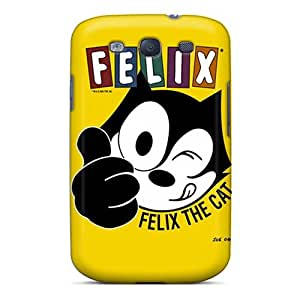 TraciCheung Samsung Galaxy S3 Shock Absorbent Hard Phone Case Provide Private Custom High Resolution Felix The Cat Series [Nth15719Kcgv]