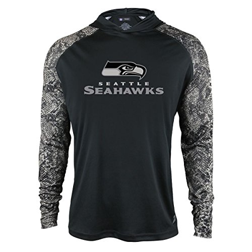 Zubaz Adult Men Seattle Seahawks, Digital Print Sleeves, Large]()