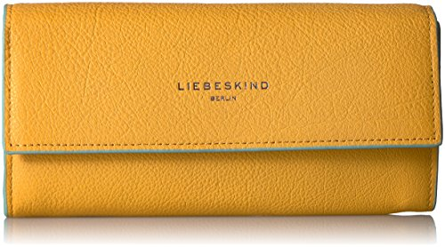Liebeskind Berlin Women's Frida Leather Flap Wallet Wallet, Amber Yellow, One Size by Liebeskind Berlin