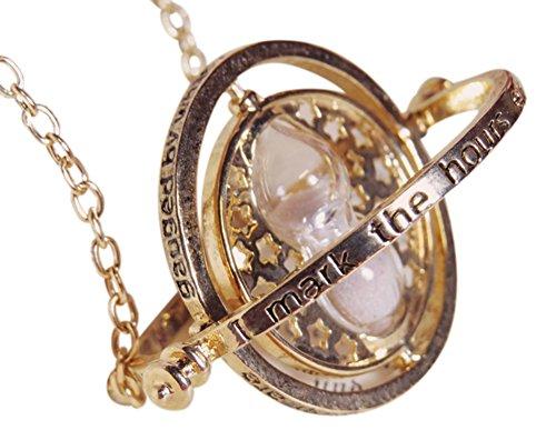 H-H-UK-Tiempo-Turner-Collar-Wizardry-falcoa-horcrux-Reloj-de-Arena-Colgante-en-Rojo-Terciopelo