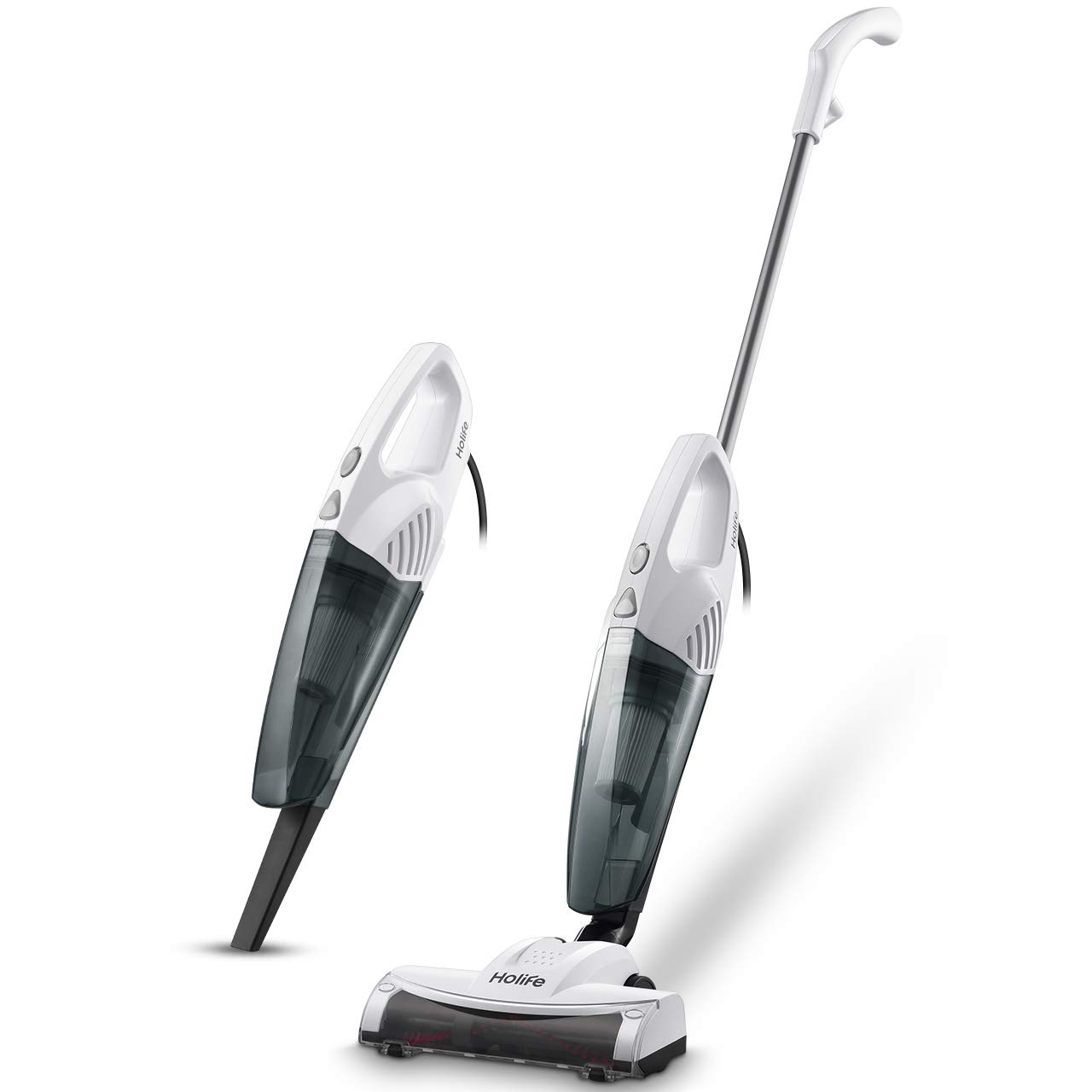 Holife Stick Vacuum Corded, 2 in 1 Handheld Vacuum Cleaner with 15KPA Powerful Suction, Rolling Brush, HEPA Filter
