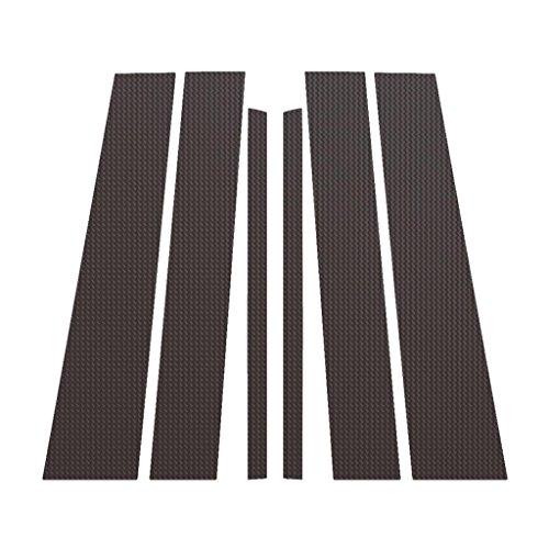 Carbon Fiber Pillar Post Trim Cover fits: 2004-2014 Nissan Titan Armada - Ferreus Industries - PIL-120-CF (Fiber Covers Carbon Pillar B)