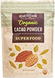 BULK! Heartyhub Certified Organic Cacao Powder: from Hand-Picked Peruvian Criollo Cocoa Beans - (24)16 oz packs of Best Coco Powder Unsweetened Superfood -  Organic Rainforest SAC
