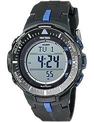 Casio Mens PRG-300-1A2CR Pro Trek Triple-Sensor Tough Solar Black Digital Watch
