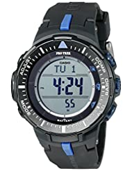 Casio Men's PRG-300-1A2CR Pro Trek Triple-Sensor Tough Solar Black Digital Watch