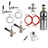 Standard Double Faucet Door Mount Kegerator Keg Tap Conversion Kit