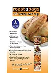 Self basting Oven Roaster Bags 18x22 inches For Turkey and Large Roasts 2 in package
