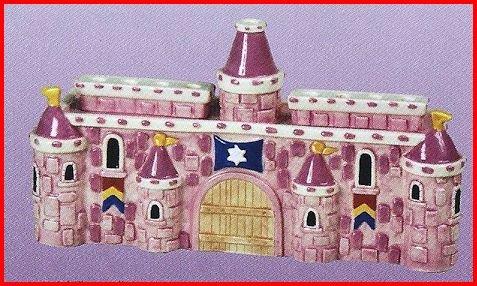 Princess Castle Children Menorah. (Children Menorah)