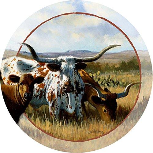 Thirstystone Stoneware Coaster Set, (Texas Longhorns Coaster Set)