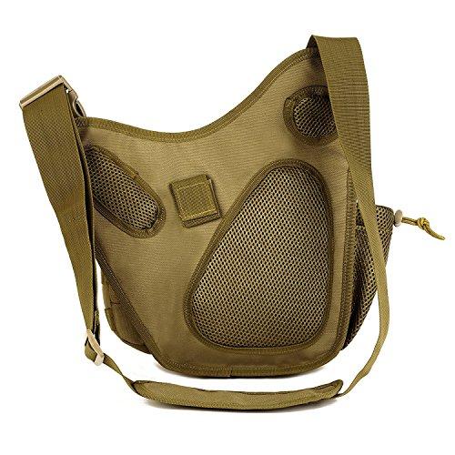 Camping Green freedom paquete Army la Senderismo multifuncional marrón Bag cintura Militar Messenger Pack de bolsa cámara Ciclismo vp de táctico para aqHrEa