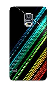 Series Skin Case Cover For Galaxy S5(black Rainbow)