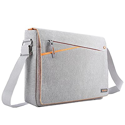 MOSISO Laptop Shoulder Bag with Two Side Pockets Storage Protective Spill-Resistant Polyester Carrying Case Cover