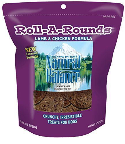 Natural Balance Roll-A-Rounds Lamb & Chicken Formula Dog Treats, 8-Ounce