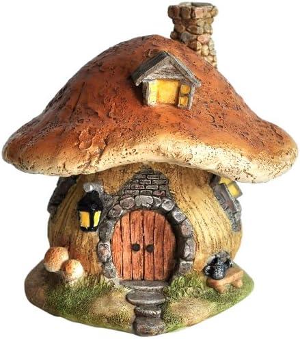 10 Pcs Mini Mushroom Miniatures Set Fairy Garden Ornament Lawn Decor V8I1