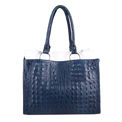 OBC Only-Beautiful-Couture, Borsa a spalla donna Blu blu/bianco ca.: 31x26x15 cm (BxHxT) blu/bianco