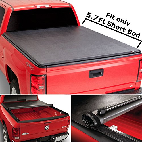 Super Drive RT010 Roll & Lock Soft Tonneau Truck Bed Cover For 2009-2016 Dodge Ram 1500 5.7ft Bed 2010-2016 Dodge Ram 2500 3500 5.7ft (Lo Profile Roll)