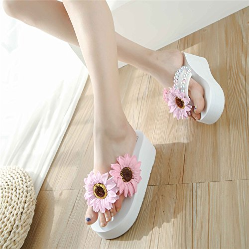 Sandals Low White Heel pit4tk Comfortable Slip Block Wedge Slide Sandal Everyday Shoe Slipper Women's On Oggw5qp6