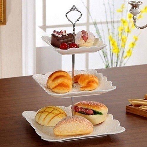 FidgetFidget Handle Fitting Hardware Rod Plate 3 Tier Cake Plate Stand Crown Wedding by FidgetFidget (Image #4)
