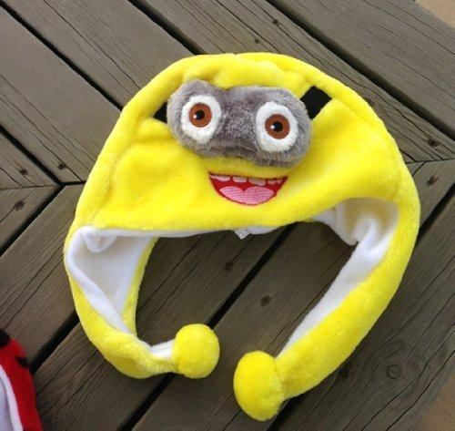 New Despicable Me 2 Minions Smiling Jorge Plush Style Soft Plush Warm Hat