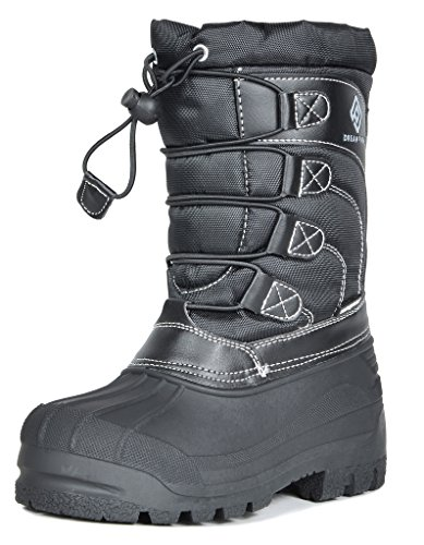 DREAM PAIRS Boys & Girls Toddler/Little Kid/Big Kid Insulated Fur Winter Waterproof Snow Boots