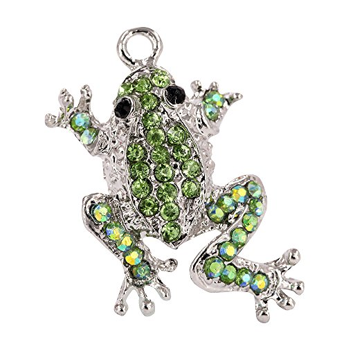 Creative DIY Green Leap Frog Charms Pendants Wholesale (Set of 3) MH425