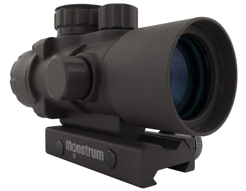 Monstrum Tactical S330P Ultra-Compact 3x Prism Scope (Black) by Monstrum