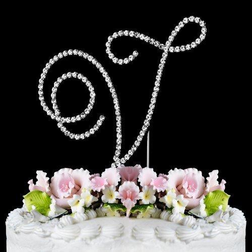 RENAISSANCE MONOGRAM WEDDING CAKE TOPPER LARGE LETTER V by Other