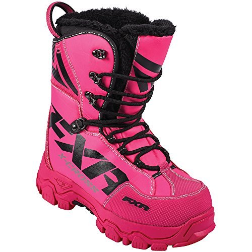 FXR X Cross Lace Boot Authentic Durable Lightweight Toe Kick Snocross Snowmobile - Fuchsia - Womens 8