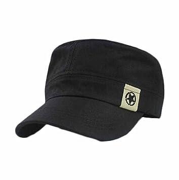 Sannysis Gorras Unisex algodón de la Motocicleta Cap, Sombrero Militar y Bush Sombreros (Negro): Amazon.es: Deportes y aire libre