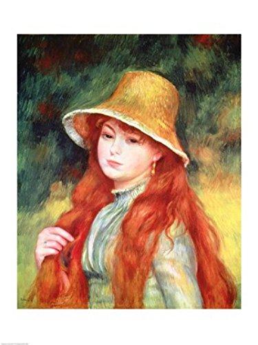 Pierre-Auguste Renoir – Chica joven en un sombrero de paja Artistica di  Stampa ( ca7380f69d53