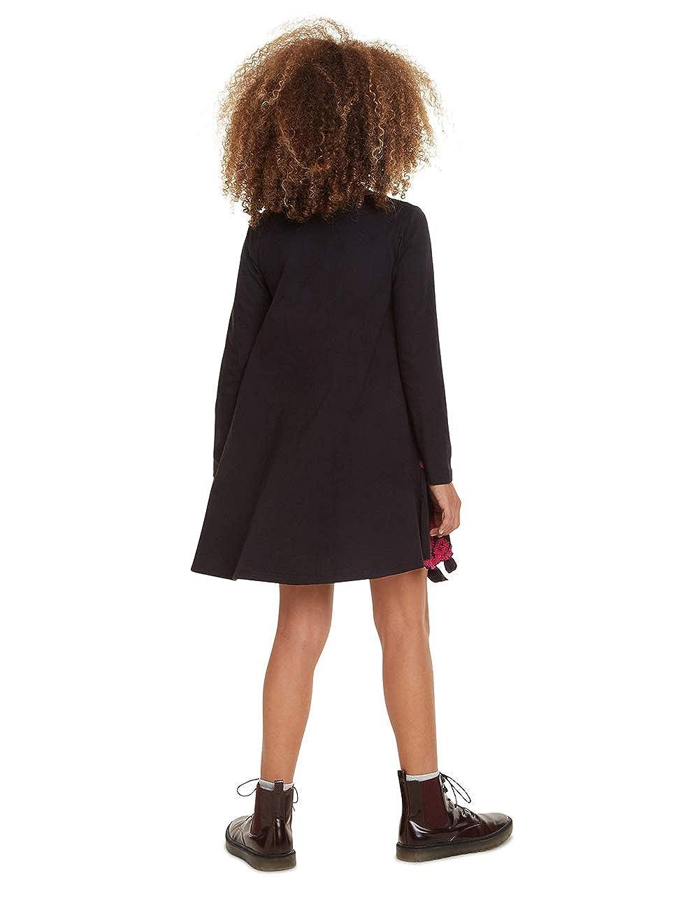 Desigual M/ädchen Dress Papaya Kleid