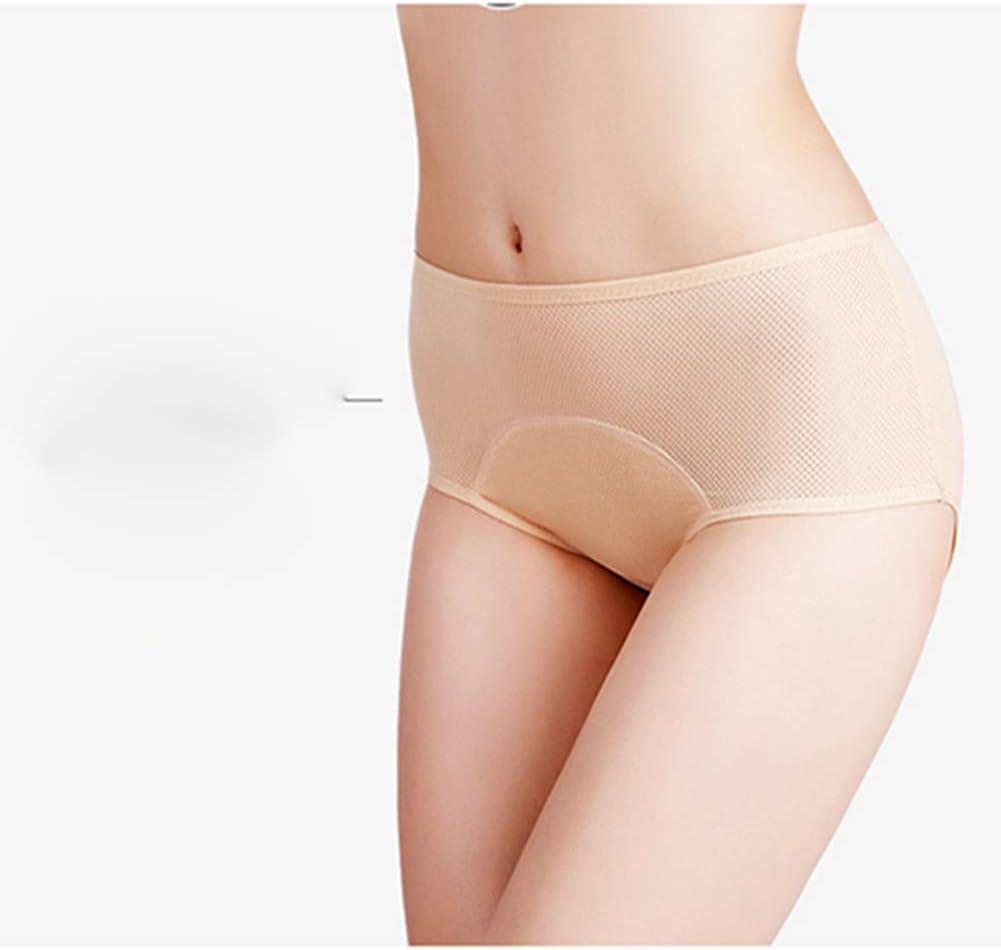 Egurs Lot de 3 culottes menstruelles pour femme Taille haute Anti-fuite En coton Confortable Respirant Emp/êche les fuites lat/érales