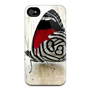 Hot Tpu Cover Case For Iphone/ 4/4s Case Cover Skin - Butterfly