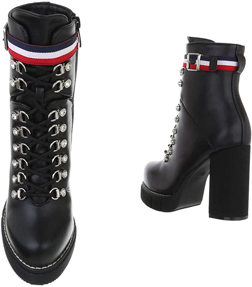 Ital-Design - Botines para mujer con cordones Negro 0 332 vRtfR