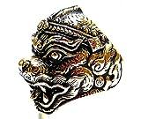 Lord Hanuman Monkey Ring God of Monkey Ramakien Thai Amulet Monkey Brass Jewelry (Br-59)